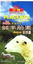Sheep Placenta Skin & Beauty Supplements 100 softgels 500mg Royal King Brand