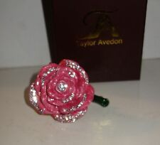 Taylor Avedon Collectible trinket box pink rose authentic new + box $140