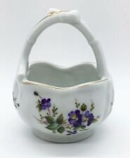Vintage Lefton Porcelain Basket, Hand Painted, #03098