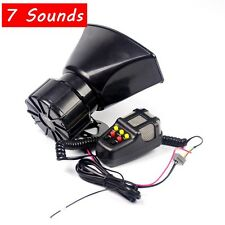 7 Sound 100W Car Warning Siren Alarm W/MIC Police Ambulance Loudspeaker DC12V