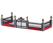 Lemax Decoration 'Lit Wrought Iron Fence', Christmas Decorating Scene, Lighted