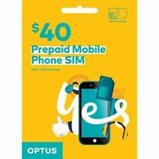 Australia Optus Mobile $40 Prepaid SIM with 20GB data and call credit (3G/4G)