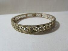 VINTAGE stretchy goldtone cuff bracelet