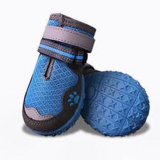 Dog Shoes | Size 4 (Blue)  Durable Anti-Slip Sole, Border Collie 4 pcs