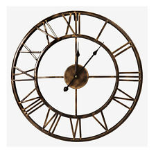 Open-Box Retro 20-inch Dia Large Iron Metal Indoor Wall Clock Roman Numerals
