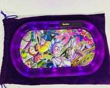 More details for backwoods rick & morty led glow bluetooth speaker smokers rolling tray free gift