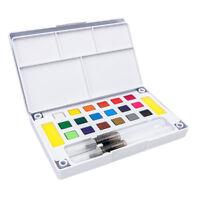 Set di colori per acquerelli a 24 colori con acquerelli solidi con 2