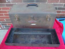 Vtg Craftsman  Tool Box 20inch with tray 1950s