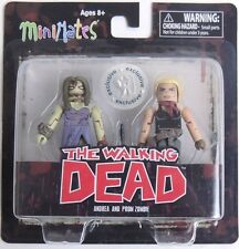 ESZ566. The Walking Dead Minimates Series 7 Andrea and Prom Zombie -DST 2014