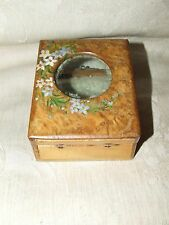 Antique Burled Wood Watch GARAGE Box Case Hand Made One of a Kind
