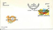 SPD FDC Primer dia Spain 2982 X Aniversario de la Constitucion