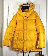 NWT WOMEN'S STEVE MADDEN YELLOW FAUX FUR JACKET COAT PUFFER OUTWEAR SZ L, XL