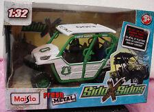 Maisto Side X Sides Kawasaki TERYX4 All Terrain ☆White/Green;Forest Ranger☆1:32