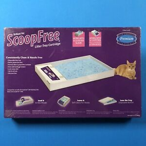 Brilliant Pet ScoopFree Litter Tray Single Cartridge Blue Crystal Litter