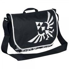 Zelda Triforce Logo Black Messenger Bag