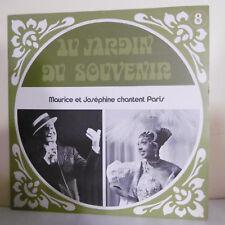 33T JARDIN SOUVENIR 8 Vinyle LP Maurice CHEVALIER Joséphine BAKER CHANTENT PARIS