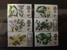 Great Britain 1967 British Wild Flowers 6 stamp set MLH