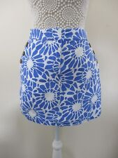 Papaya skirt new without tags Size 12 Wht with lge blue floral print.2 pockets.