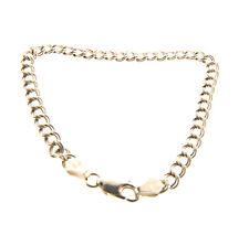 Sterling Silver Double Loop Starter Charm Bracelet 5mm 7 Inch