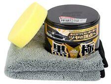 SOFT99 Extreme Gloss Wax Black The Kiwami Wachs 200 g + Schwamm & Mikrofasertuch