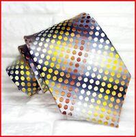 Luxury Tie classic new 100% silk Made in Italy brand Morgana gray polka dot