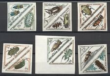 CENTRAL AFRICAN REPUBLIC #J1-12, Complete Insect set, IMPERF PAIRS, NH, scarcer