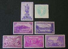 Us, 1937 full Commemorative year set, sc 795/802, 7 stamps, Og, Mnh