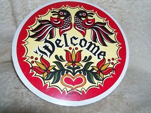"CONESTOGA CRAFTS Hex Sign, 8"" Double Welcome"