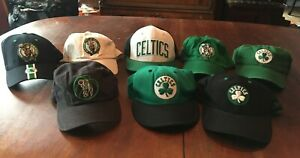 NBA Boston Celtics Lot of 8 Caps/Hats Assorted Sizes