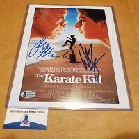 William Zabka & Ralph Macchio DUAL  Autograph 8x10  The Karate Kid Signed BAS