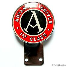 Vintage 1960s Car Badge - Advanced Driver First 1st Class - Auto Driving Mascot