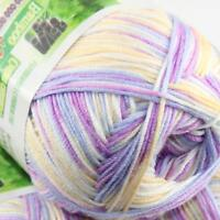 Summer 1Ball x 50g Bamboo Cotton Baby DIY Thread Knitting Crochet Finger Yarn 38