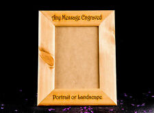 personalised natural solid wooden photo 7x5 frame custom engraved Any Message