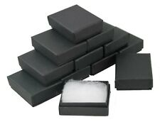 24 x Matt Black Rectangular Cardboard Box Jewellery Charm Earring Gift Boxes