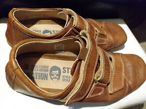MEN Nation Tan Leather Casual Walking Comfy Shoes UK 10 /EU44  Used Good Straps