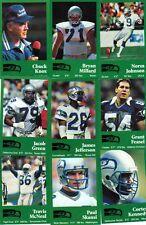 1990 Seattle Seahawks Police Safety Set Cortez Kennedy Krieg Complete Set (16)