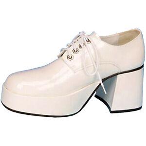 White Platform Shoes Mens Disco 70s Travolta Saturday Night Live