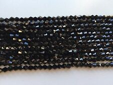 3mm wholesale 730 pieces - black BICONE beads - glass faceted loose
