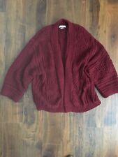 Isabel Marant Cardigan Women's Sweater Designer Burgundy Sweater