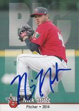 Nick Mutz 2014 Fort Wayne Tin Caps Signed Card
