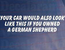 Votre voiture ressemblerait aussi à cette si vous possédiez un berger allemand autocollant drôle