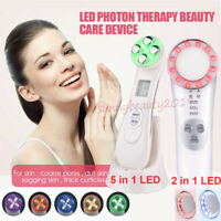 5in1 Face Lifting Fractional RF EMS Anti Aging LED Photon Therapy Beauty Device