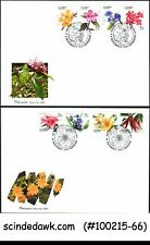 Thailand - 1991 to 1993 New Year / Flowers - Set Of 3 Fdc