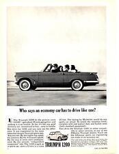 1963 TRIUMPH 1200  ~  NICE ORIGINAL PRINT AD