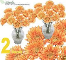 "24 pcs Gerbera Daisy 21"" Silk Flower Artificial Plant O"