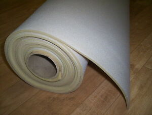 "Auto Headliner Upholstery Fabric With Foam Backing 63"" x 60"" Lt Gray Cieling"