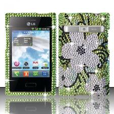 LG Optimus Logic L35G Dynamic L38G Crystal BLING Case Cover Hawaiian Flowers
