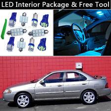 6PCS Ice Blue LED Interior Car Lights Package kit Fit 2004-2006 Nissan Sentra J1
