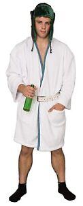 Adult Unisex Christmas Vacation Cousin Eddie White Robe and Belt Costume Set