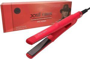 Jose Eber Flat Hair Straightener, Flat Iron, 1 Inch, Red, Dual Voltage 110-240V